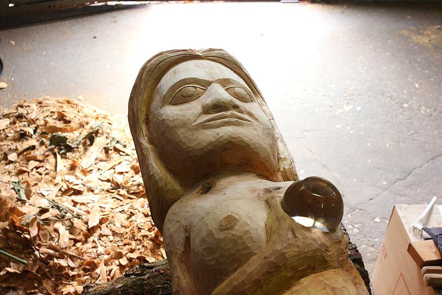 """""""Totem de Diemeringen"""", (détail), 4m50/55cm"""