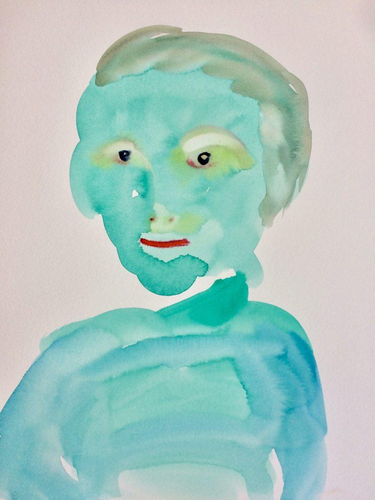 """""""Spirit"""", aquarelle sur papier, 42cm/30cm"""