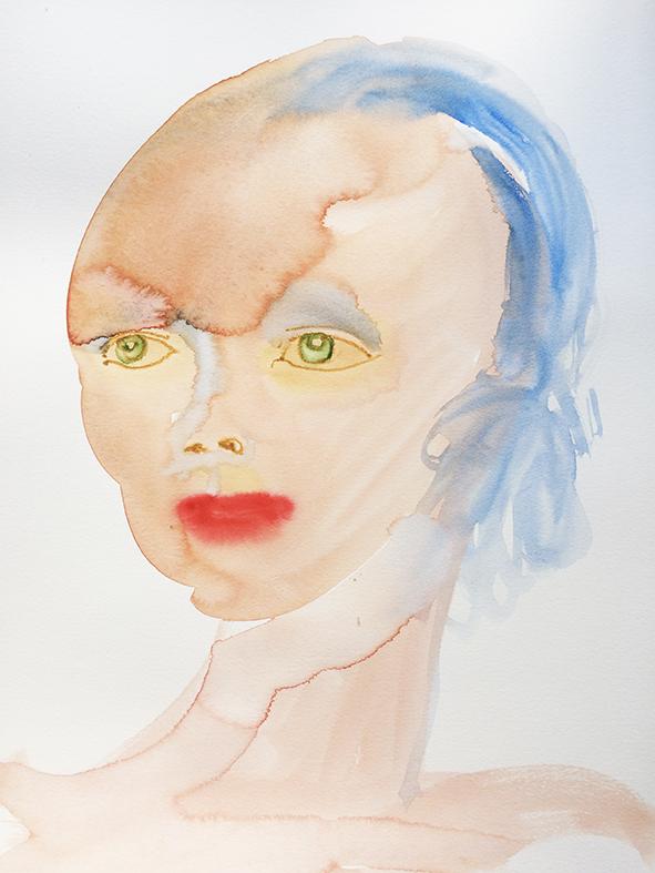 """""""Spirit"""", aquarelle sur papier, 30/42cm"""