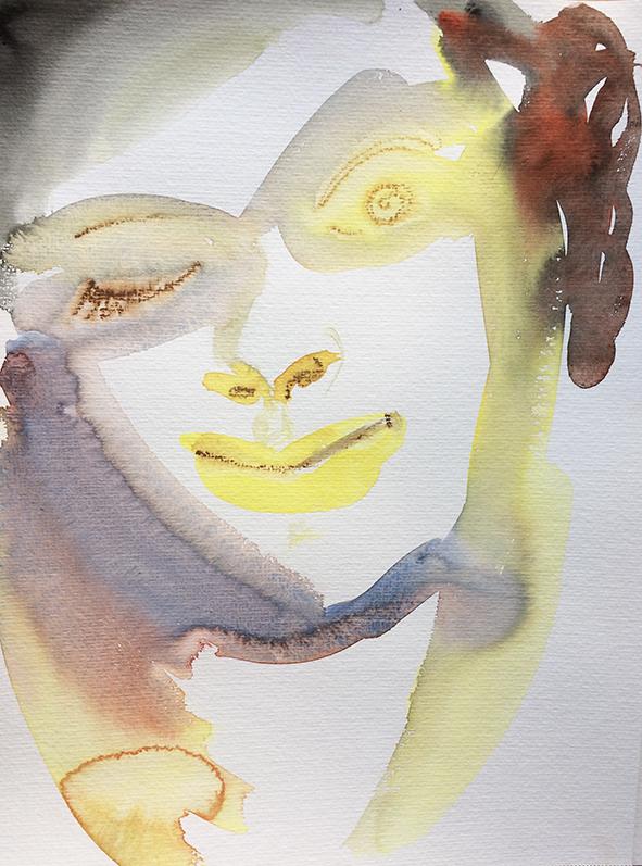 """""""Spirit"""", aquarelle sur papier, 42/30cm"""