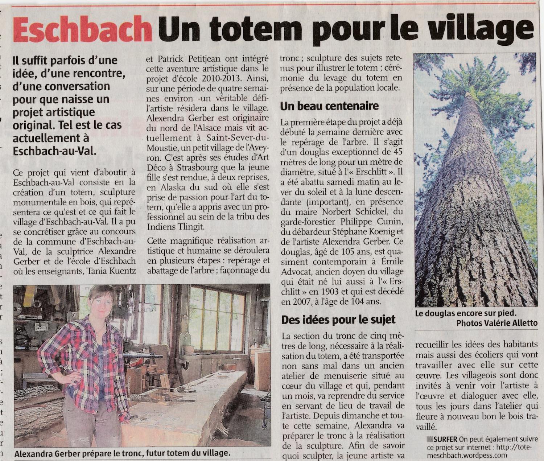 Un totem pour le village